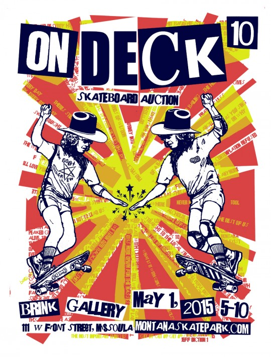 On Deck X poster design by Jeff Ament